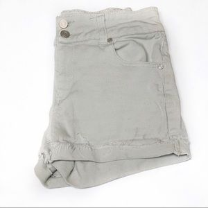 Refuge High Waisted Gray Distressed Shorts